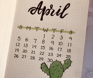 aesthetic, calendar, and green image