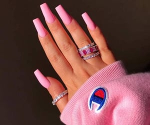 nails, pink, and champion image