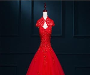 pretty red, modest lace long puffy, and pfw0286 image