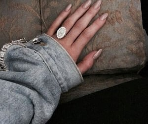 nails, ring, and diamonds image