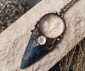 etsy, necklaces, and arrowhead image