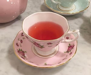 tea, pink, and drink image