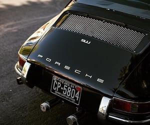 car, black, and porsche image
