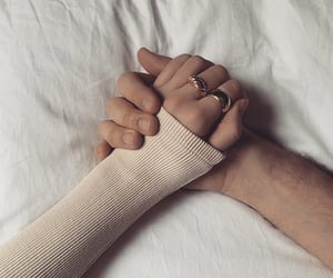 holding hands, aesthetic, and couple image