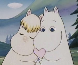 love, moomin, and cartoon image