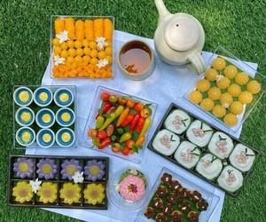 dessert, picnic, and thai dessert image