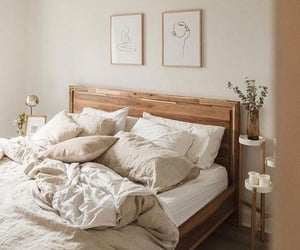 bed, comfy, and minimalist image