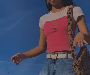 leopard, pink, and y2k image
