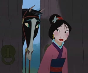 disney, mulan, and disney princess image