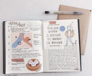 journal, stationery, and study image