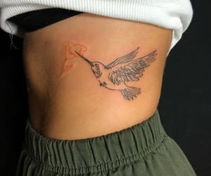 tattoo, bird, and ink image