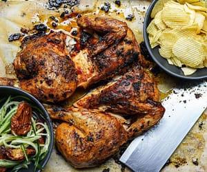 crisps, potato chips, and roast chicken image