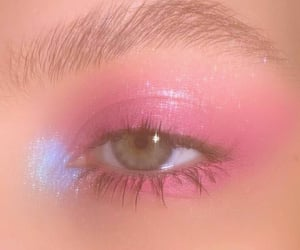 beauty, maquiagem rosa, and eye image