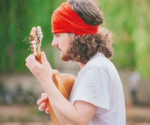 guitar, musician, and hippie image