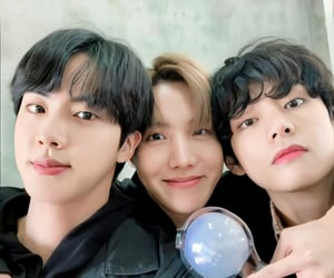 jin, v, and jhope image