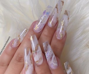 acrylics, clear, and gold image