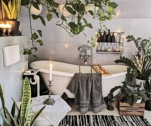 bathroom, cozy, and decor image