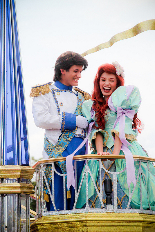 ariel, dress, and hair image