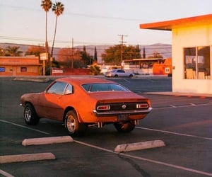 car, aesthetic, and orange image