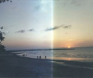 beach, photography, and sunset image