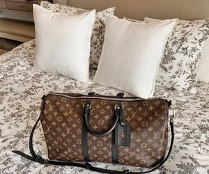 bag, bed, and fashion image