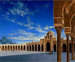 tunisie, mosquee, and kairouan image