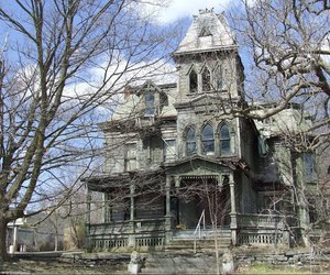 house, trees, and victorian image