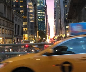 nyc, city, and taxi image