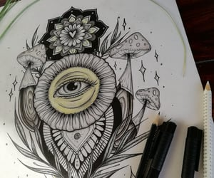 drawing, flower drawing, and art image