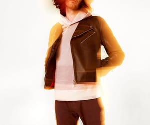 leather jacket, andrew hozier byrne, and hozier image