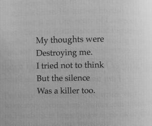 quotes, sad, and silence image