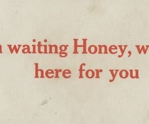 quotes, honey, and waiting image