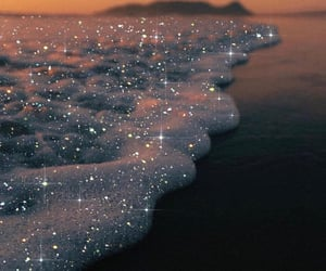 aesthetic, glitter, and sea image