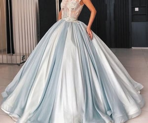 blue prom dress, beaded prom dresses, and robe de soirée image