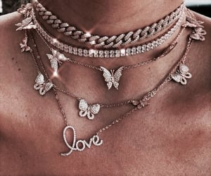 necklace, rose gold, and aesthetic image