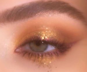 eyes, gold, and sparkle image