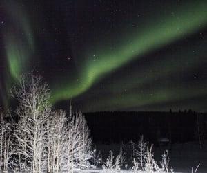 aurora borealis, finland, and snow image