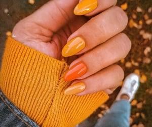 beauty, nails, and orange image