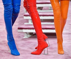Dior latex boots  Uploaded by @maro_daddario  (Photo not mine)