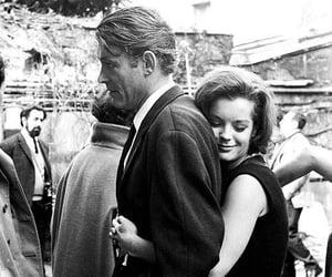 hug, black and white, and couple image