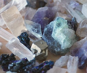 cristals, geology, and purple image