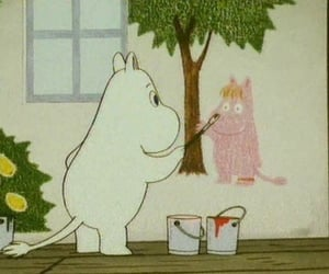 animation, the moomins, and cute image