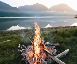 bonfire, fire, and hipster image