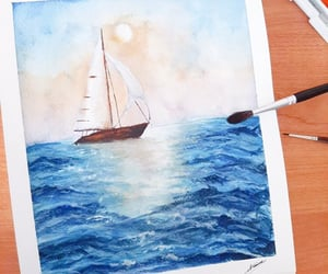 art, artwork, and boat image