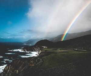 rainbow, scenery, and view image