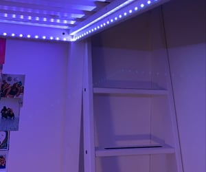 blue, led, and room image