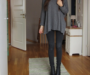 fashion, black jeans, and girl image