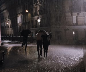 rain, city, and cute image