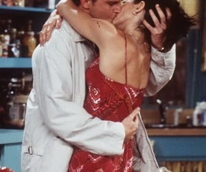 chandler, chandler bing, and kiss image