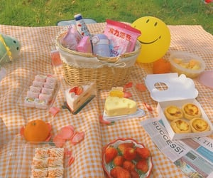 food, fruit, and picnic image